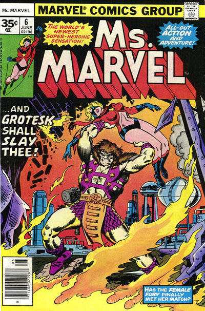 Cover for Ms. Marvel (Marvel, 1977 series) #6 [30 cent cover price]