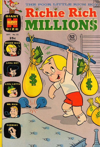 Cover for Richie Rich Millions (Harvey, 1961 series) #55