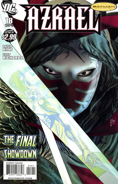 Cover for Azrael (DC, 2009 series) #18