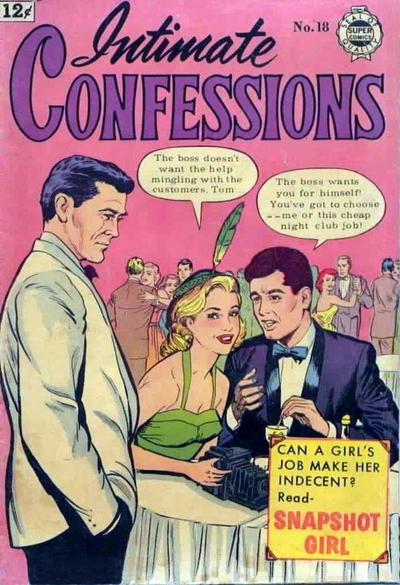 Cover for Intimate Confessions (I. W. Publishing; Super Comics, 1958 series) #18