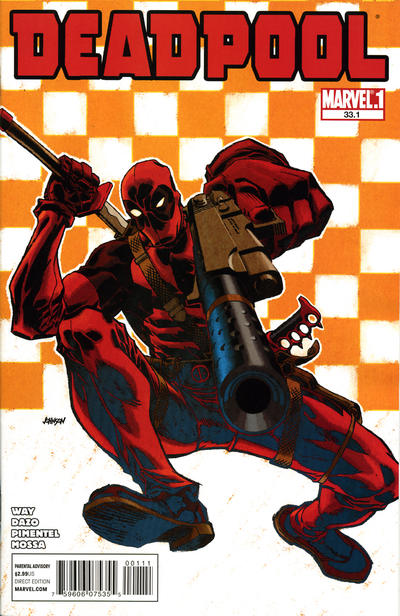 Cover for Deadpool (Marvel, 2008 series) #33.1 [Newsstand]