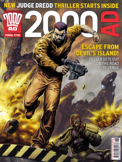 Cover for 2000 AD (Rebellion, 2001 series) #1718