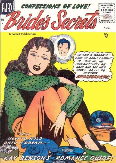 Cover for Bride's Secrets (Farrell, 1954 series) #16