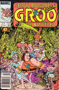 Cover Thumbnail for Sergio Aragonés Groo the Wanderer (Marvel, 1985 series) #24 [Newsstand Edition]