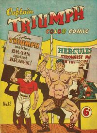 Cover Thumbnail for Captain Triumph Comics (K. G. Murray, 1947 series) #12