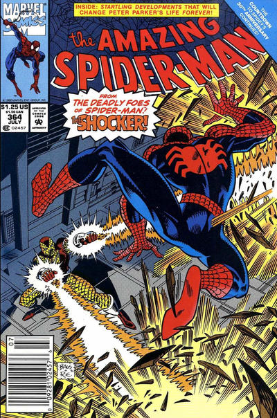 Cover for The Amazing Spider-Man (Marvel, 1963 series) #364 [Direct]