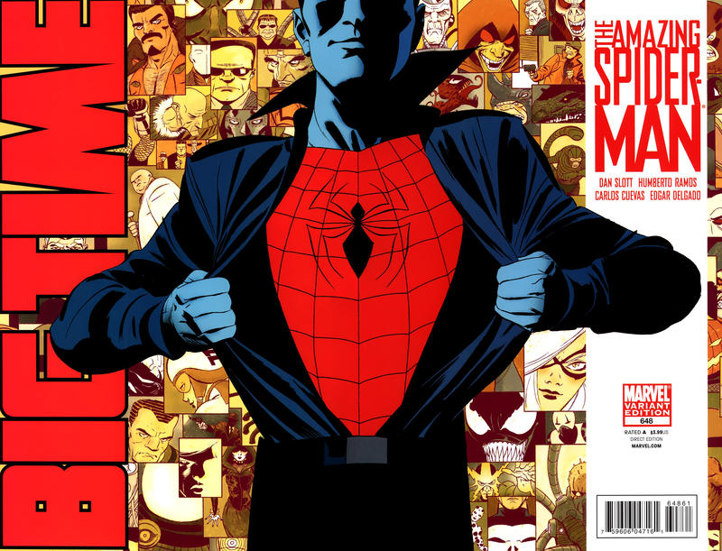 Cover for The Amazing Spider-Man (Marvel, 1999 series) #648 [Blank Variant Cover]