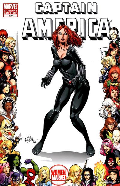 Cover for Captain America (Marvel, 2005 series) #609 [Women of Marvel]