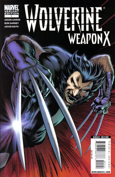 Cover for Wolverine Weapon X (Marvel, 2009 series) #1 [Variant Edition - Blank Cover]