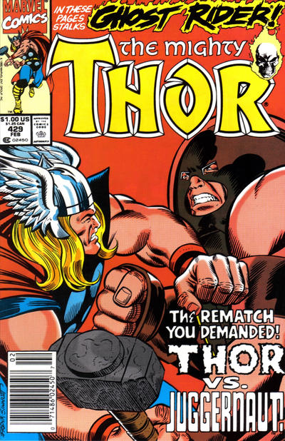 Cover for Thor (Marvel, 1966 series) #429 [Newsstand]