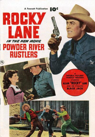Cover for Powder River Rustlers (Fawcett, 1950 series) #[nn]
