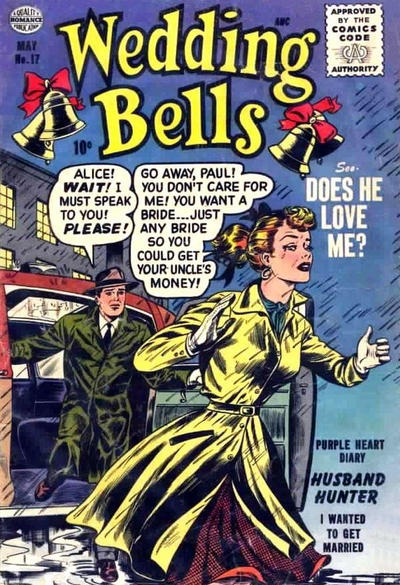 Cover for Wedding Bells (Quality Comics, 1954 series) #17