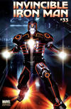 Cover for Invincible Iron Man (Marvel, 2008 series) #33 [Tron Variant Edition]