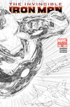 Cover for Invincible Iron Man (Marvel, 2008 series) #500 [Variant Edition - Black-and-White Joe Quesada]