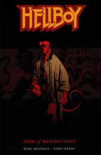 Cover Thumbnail for Hellboy (Dark Horse, 1994 series) #[1] - Seed of Destruction [2nd printing / 2nd cover]