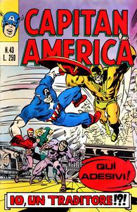 Cover Thumbnail for Capitan America (Editoriale Corno, 1973 series) #43