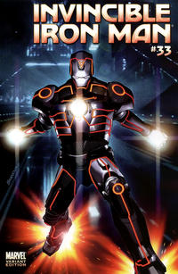 Cover Thumbnail for Invincible Iron Man (Marvel, 2008 series) #33 [Tron Variant Edition]