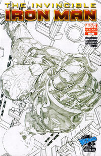 Cover for Invincible Iron Man (Marvel, 2008 series) #1 [Salvador Larroca Cover]