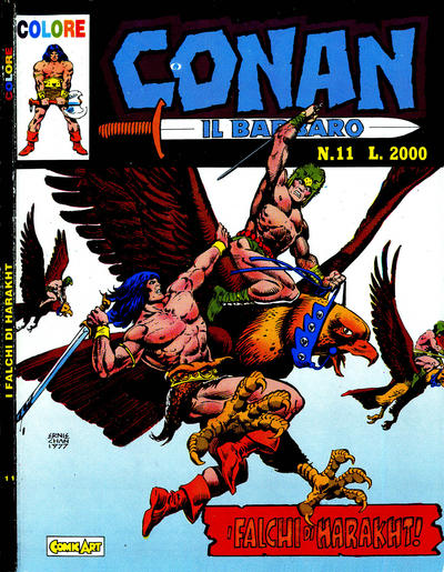 Cover for Conan il barbaro (Comic Art, 1989 series) #11
