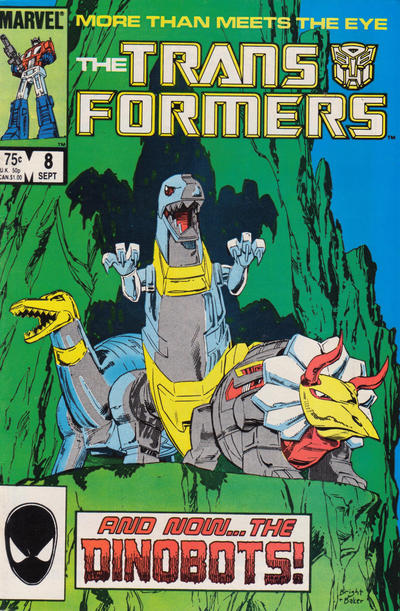 Cover for The Transformers (Marvel, 1984 series) #8 [Direct Edition]