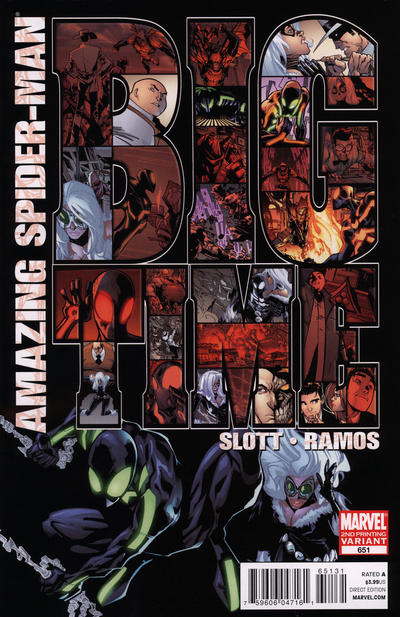 Cover for The Amazing Spider-Man (Marvel, 1999 series) #651 [Second Printing Variant Cover]