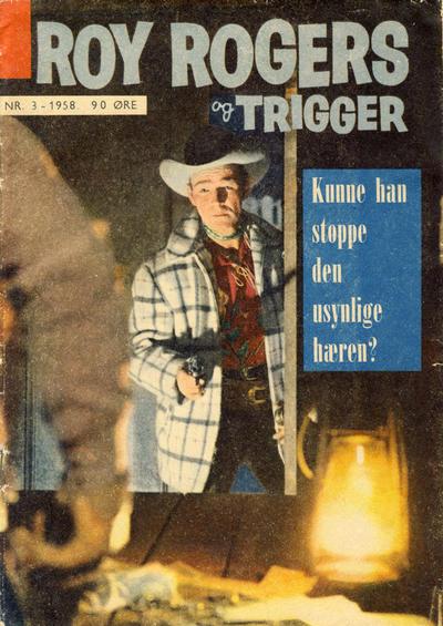 Cover for Roy Rogers (Serieforlaget / Se-Bladene / Stabenfeldt, 1954 series) #3/1958