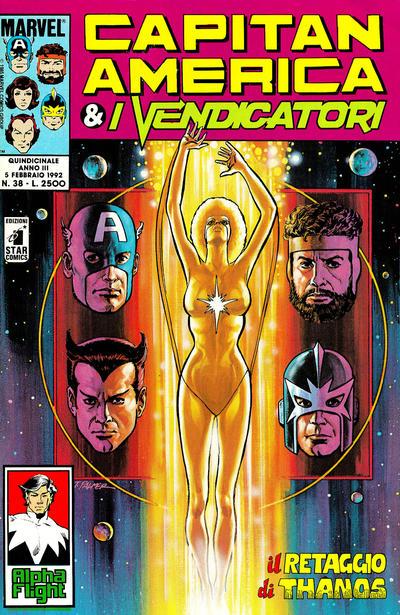 Cover for Capitan America & i Vendicatori (Edizioni Star Comics, 1990 series) #38