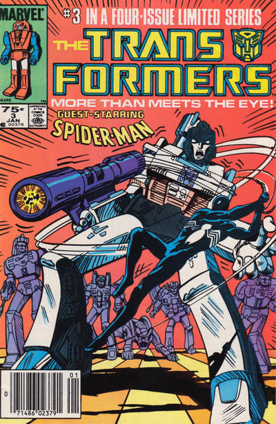 Cover for The Transformers (Marvel, 1984 series) #3 [Direct Edition]
