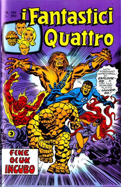 Cover for I Fantastici Quattro (Editoriale Corno, 1971 series) #163