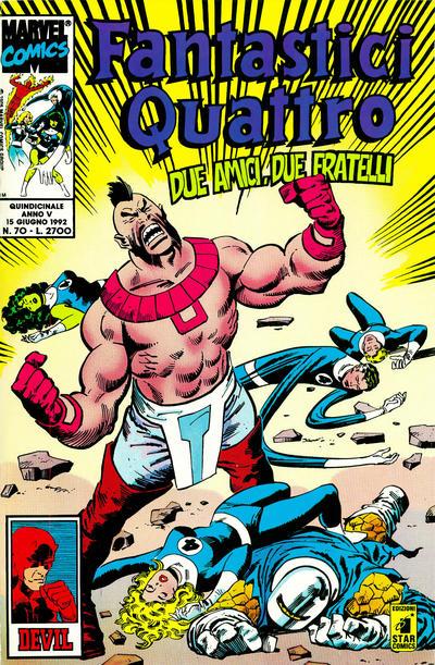 Cover for Fantastici Quattro (Edizioni Star Comics, 1988 series) #70