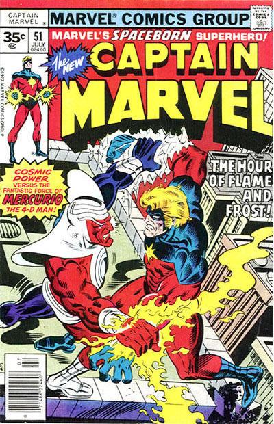 Cover for Captain Marvel (Marvel, 1968 series) #51 [35¢ Price Variant]