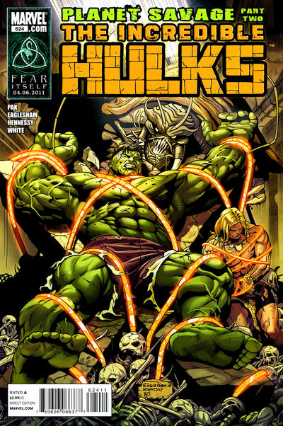 Cover for Incredible Hulks (Marvel, 2010 series) #624 [Variant Edition]