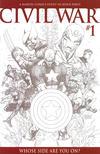 Cover Thumbnail for Civil War (2006 series) #1 [Michael Turner Sketch Variant]