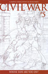 Cover for Civil War (Marvel, 2006 series) #5 [Retailer Incentive Sketch Cover]