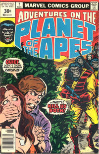 Cover Thumbnail for Adventures on the Planet of the Apes (Marvel, 1975 series) #7 [30 cent cover price variant]