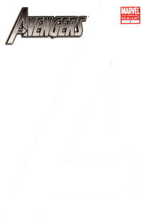 Cover Thumbnail for Avengers (Marvel, 2010 series) #1 [Second Printing Blank Cover Variant]