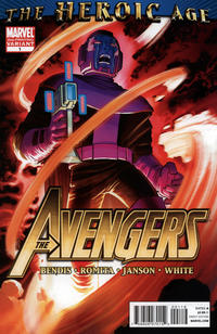 Cover Thumbnail for Avengers (Marvel, 2010 series) #1 [Second Printing]