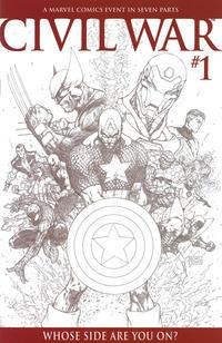 Cover Thumbnail for Civil War (Marvel, 2006 series) #1 [Michael Turner Sketch Variant]