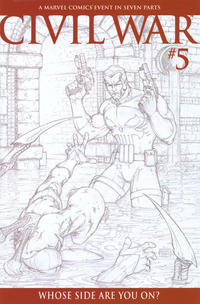 Cover Thumbnail for Civil War (Marvel, 2006 series) #5 [Retailer Incentive Sketch Cover]