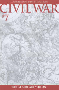 Cover Thumbnail for Civil War (Marvel, 2006 series) #7 [Retailer Incentive Sketch Cover]