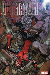 Cover Thumbnail for Ultimatum (Marvel, 2009 series) #4 [Peter Parker RIP Variant Cover]