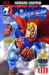 Cover Thumbnail for Power & Glory (Malibu, 1994 series) #1 [Bravura Bonus Book Edition]