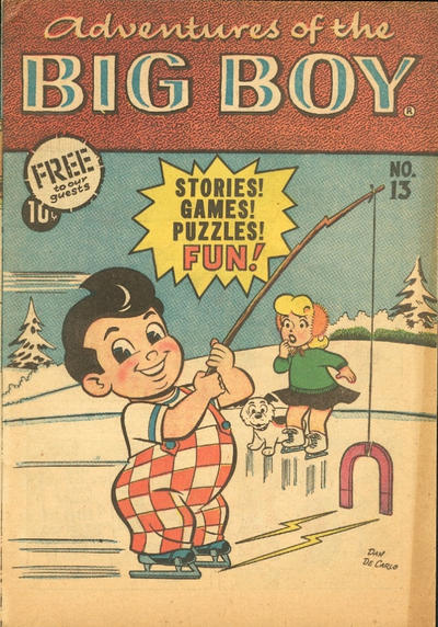 Cover for Adventures of the Big Boy (Webs Adventure Corporation, 1957 series) #13 [West]