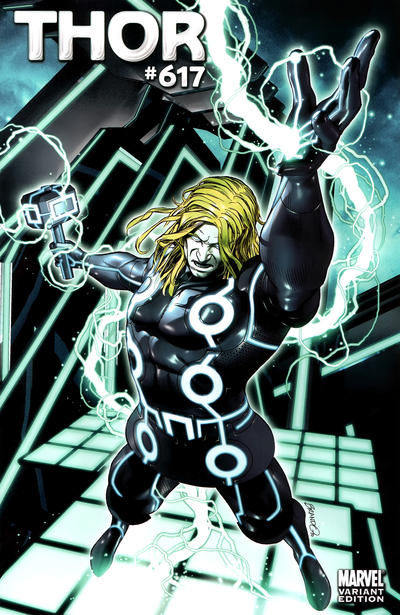 Cover for Thor (Marvel, 2007 series) #617 [Tron Variant]