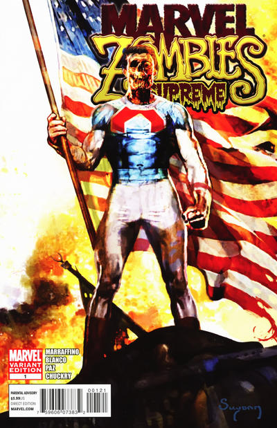 Cover for Marvel Zombies Supreme (Marvel, 2011 series) #1 [Variant Edition]
