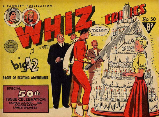 Cover for Whiz Comics (Cleland, 1946 series) #50