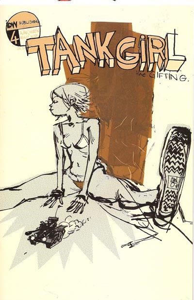Cover for Tank Girl: The Gifting (IDW, 2007 series) #4 [Retailer Incentive]
