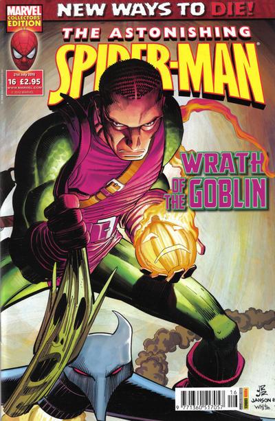 Cover for Astonishing Spider-Man (Panini UK, 2009 series) #16