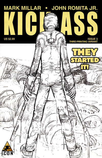 Cover for Kick-Ass (Marvel, 2008 series) #3 [Umpteenth Printing Variant]
