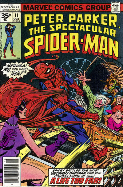 Cover for The Spectacular Spider-Man (Marvel, 1976 series) #11 [35 cent cover price variant]